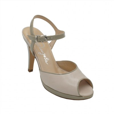 Angela Calzature  Shoes Beige leather heel 9 cm