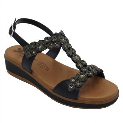RRP £ 30.00 Morxiva Toe Post La semelle intérieure Sandale Noir Taille 37-41 UK 4-7.5