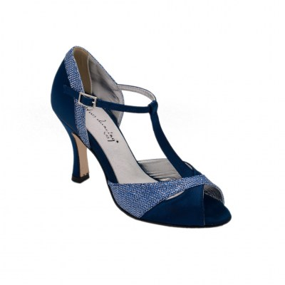 Angela Calzature Ballo standard numbers Shoes Blue Fabric heel 9 cm