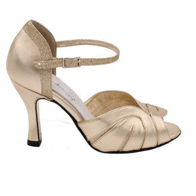 Angela Calzature Ballo standard numbers Shoes Gold leather heel 6 cm