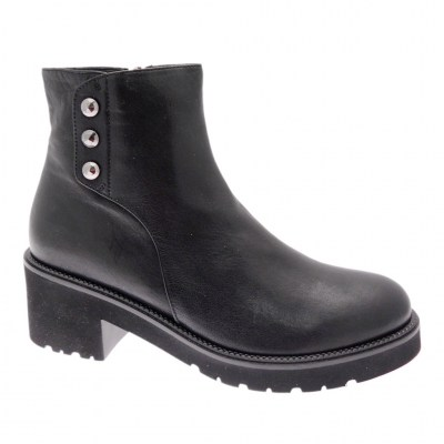 DONNA SOFT DS0617 stivaletto ankle boot nero cerniera