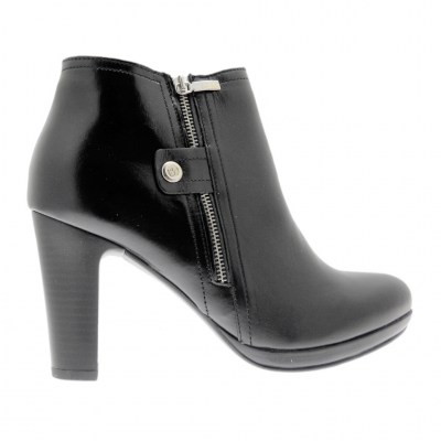 KEYS K-050 stivaletto nero con cerniera ankle boot