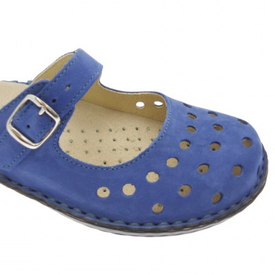 Shoe factory LOREN M2314 bluette slipper removable orthopedic plantar holes