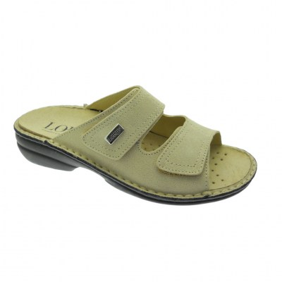 Shoe factory LOREN M2829 orthopedic slipper with adjustable beige footbed