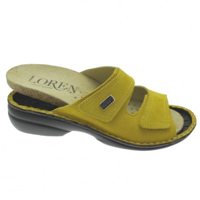 LOREN M2829 shoe factory orthopedic slipper with adjustable yellow footbed