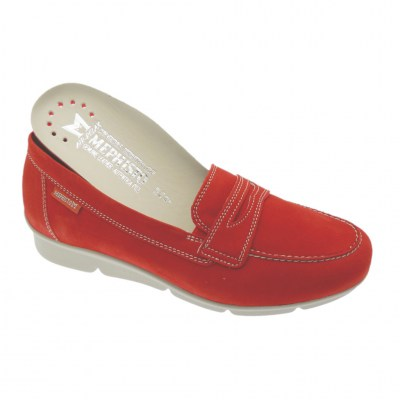 Mephisto DIVA red woman shoe removable plantar moccasin