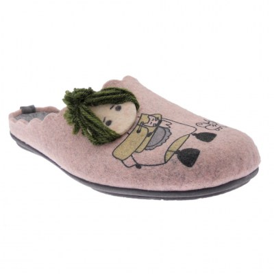 Riposella 4570 pink slipper grandmother removable insole
