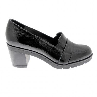 SOFFICE SOGNO 9835 mocassin black patent leather woman heel