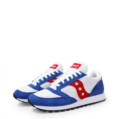 Saucony Sneakers Uomo Continuativi Bianco JAZZ_S70368_83_WHITE-BLUE-RED