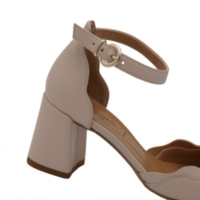 Angela Calzature standard numbers Shoes Beige ecopelle heel 6 cm