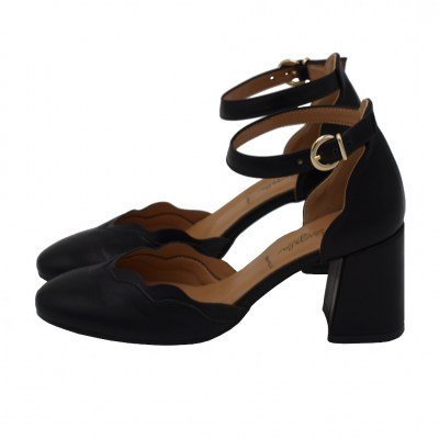 Angela Calzature standard numbers Shoes black ecopelle heel 5 cm