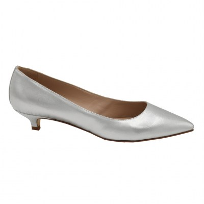 Angela Calzature Sposa e Cerimonia standard numbers Shoes Silver Fabric heel 3 cm
