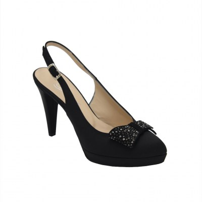 Angela Calzature Sposa e Cerimonia standard numbers Shoes black Fabric heel 9 cm