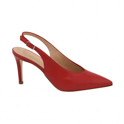 Angela Calzature Sposa e Cerimonia standard numbers Shoes Red leather heel 8 cm