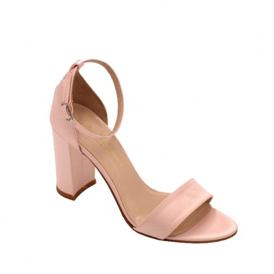 Angela Calzature Sposa e Cerimonia standard numbers Shoes Pink satin heel 9 cm
