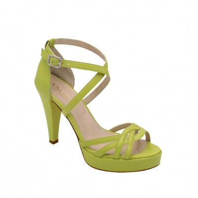 Angela Calzature Sposa e Cerimonia standard numbers Shoes Green leather heel 10 cm