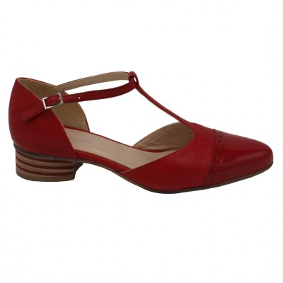 Angela Calzature standard numbers Shoes Red leather heel 3 cm