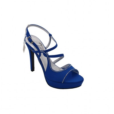 Angela Calzature Sposa e Cerimonia standard numbers Shoes Bluette satin heel 10 cm