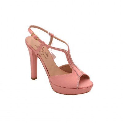 Angela Calzature Sposa e Cerimonia standard numbers Shoes Pink satin heel 10 cm