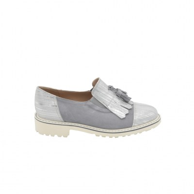 Calzaturificio Le Tulip special numbers Shoes Grey leather heel 2 cm