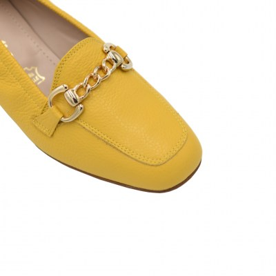 Calzaturificio Le Tulip standard numbers Shoes Yellow leather heel 3 cm