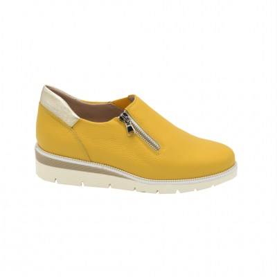 Calzaturificio Le Tulip special numbers Shoes Yellow leather heel 3 cm