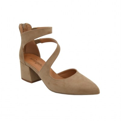 Angela Calzature standard numbers Shoes Beige ecopelle heel 4 cm