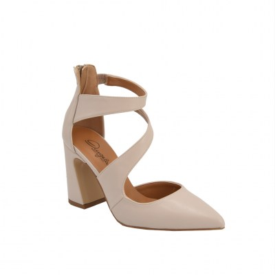 Angela Calzature standard numbers Shoes Beige ecopelle heel 8 cm