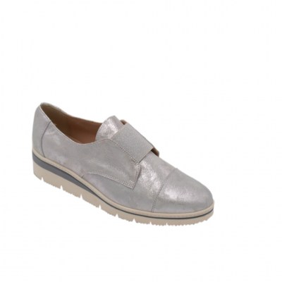 Angela Calzature Numeri Speciali special numbers Shoes Grey leather heel 2 cm