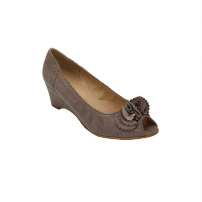 Angela Calzature Numeri Speciali special numbers Shoes Beige chamois heel 5 cm