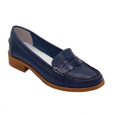 Crilu Calzaturificio standard numbers Shoes Blue leather heel 2 cm
