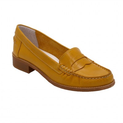 Crilu Calzaturificio standard numbers Shoes Yellow leather heel 2 cm
