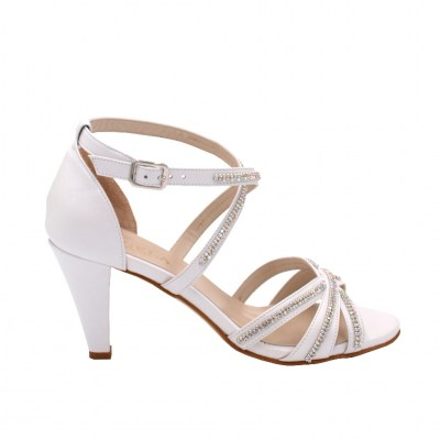 Angela Calzature Sposa e Cerimonia special numbers Shoes White leather heel 7 cm
