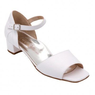 Angela Calzature Sposa e Cerimonia special numbers Shoes White leather heel 3 cm