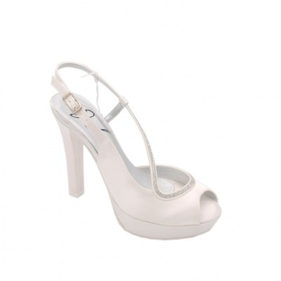 Angela Calzature Sposa e Cerimonia special numbers Shoes White satin heel 10 cm
