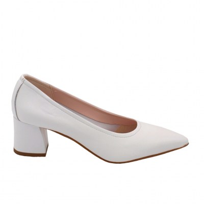 Angela Calzature Sposa e Cerimonia standard numbers Shoes White leather heel 4 cm