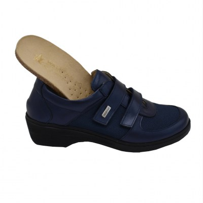 SUSIMODA standard numbers Shoes Blue leather heel 2 cm