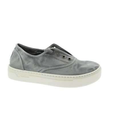 NATURAL WORLD ECO tennis cotone zeppa GRIGIO Gris 6112E 623