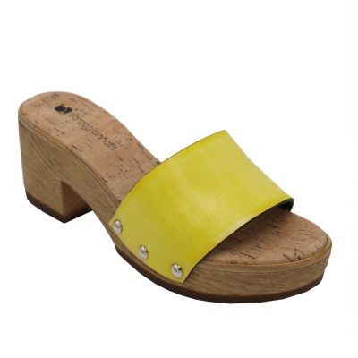 Borgo Giannotti standard numbers Shoes Yellow ecopelle heel 5 cm