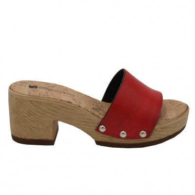 Borgo Giannotti standard numbers Shoes Red ecopelle heel 5 cm