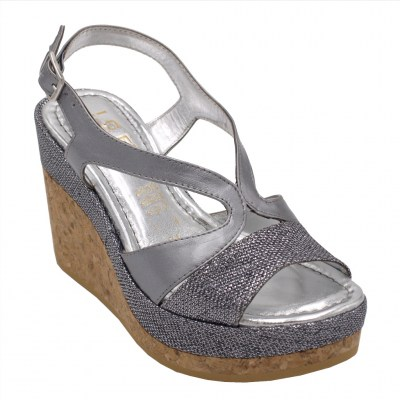 Angela Calzature special numbers Shoes Silver leather heel 8 cm