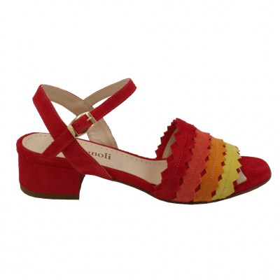 Calzaturificio Romagnoli special numbers Shoes Red chamois heel 3 cm