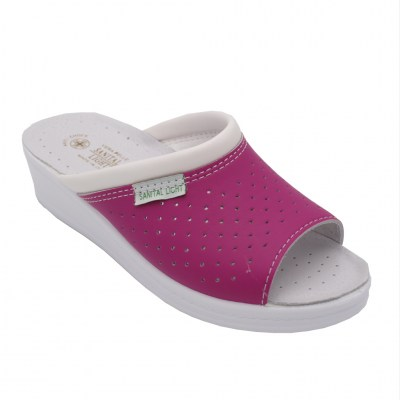 SANITAL LIGHT standard numbers Shoes fuchsia leather heel 2 cm