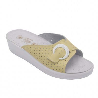 SANITAL LIGHT standard numbers Shoes Yellow leather heel 2 cm