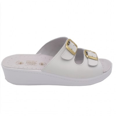 SANITAL LIGHT standard numbers Shoes White leather heel 2 cm