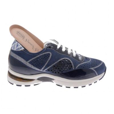 Calzaturificio Loren A1041 scarpa donna sneaker blu avio