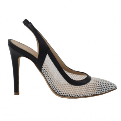Angela Calzature Numeri Speciali special numbers Shoes White Fabric heel 10 cm
