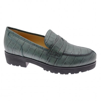 SOFT WOMAN DS0945 green crocodile moccasin woman shoe