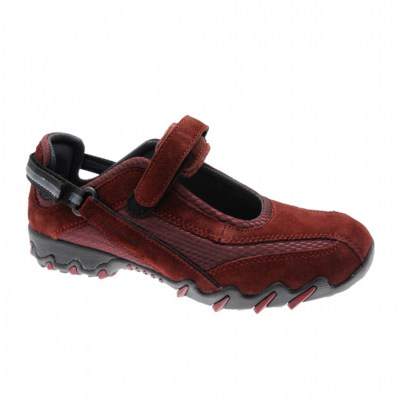 Mephisto Allrounder NIRO woman shoe anatomical removable burgundy footbed