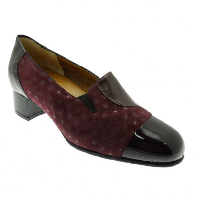 SOFFICE SOGNO 20512 high-necked woman shoe bordeaux anatomic removable footbed